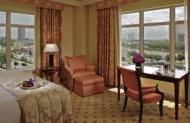Guest room at The Ritz-Carlton, Dallas.