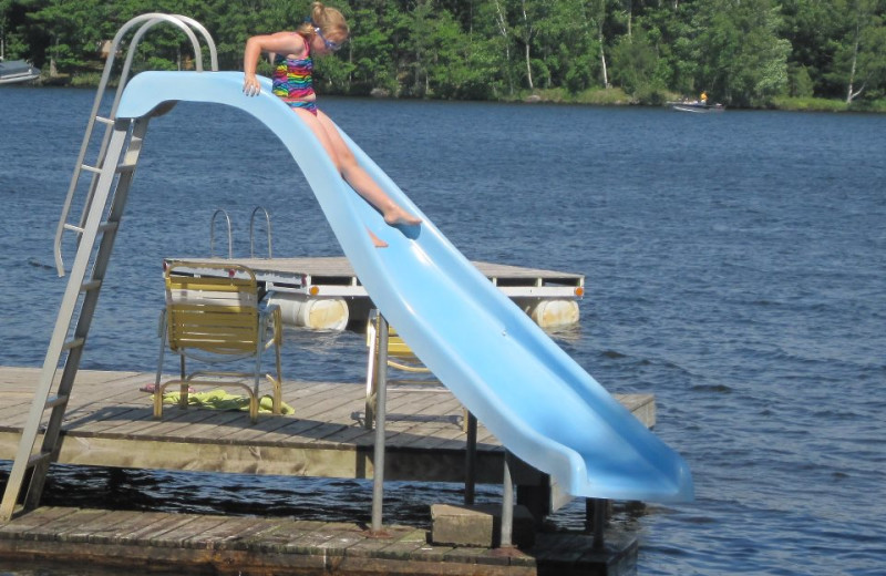 Water slide at Northland Lodge.