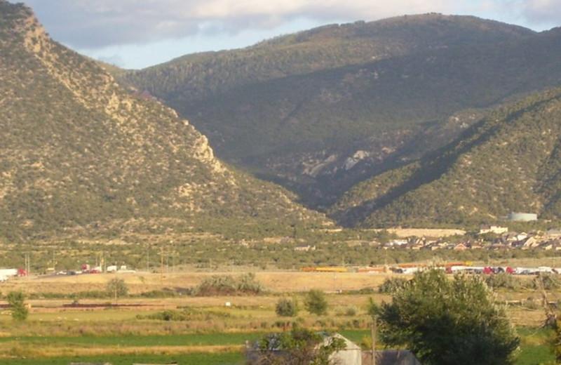 Mountain view at Willow Glen Inn.