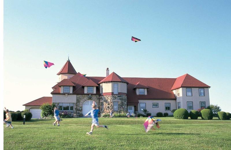 Flying kites at Ocean Edge Resort & Golf Club.