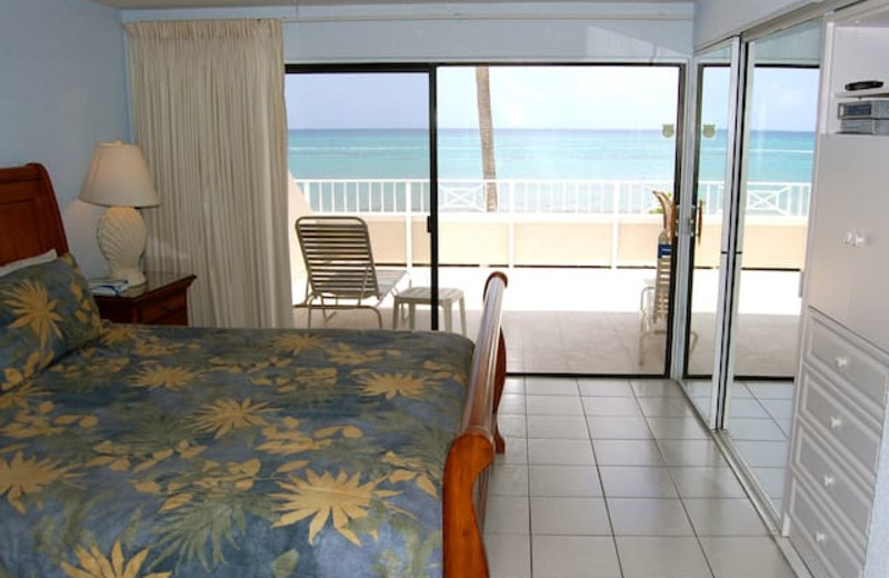 Guest room at Sunset Cove (Formerly Treasure Island Condos).