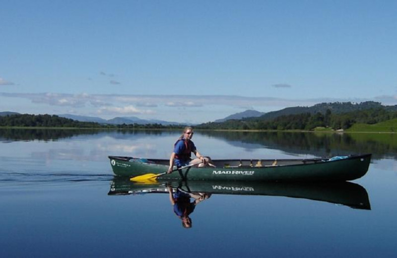 Canoeing at Loch Insh Watersports & Boathouse Restaurant.