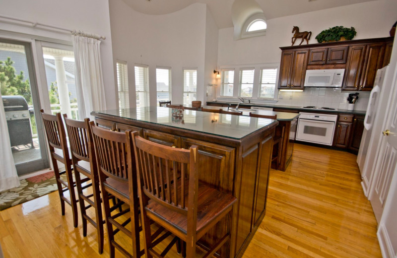 Rental kitchen at Beach Realty & Construction.