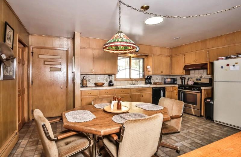 Rental kitchen at Hiller Vacation Homes.
