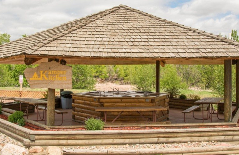 Pavilion at Colorado Springs KOA.