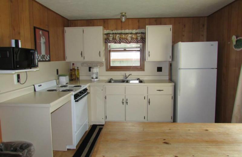 Guest kitchen at The Cottage Resort & Marina Inn.