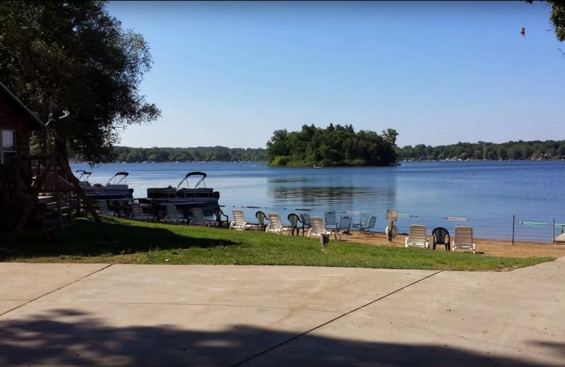 Lake view at Evans Lake Resort.