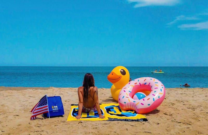 Beach toys at Joe Lamb Jr. & Associates Vacation Rentals.