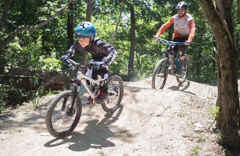 Biking at Mountain Creek Resort.