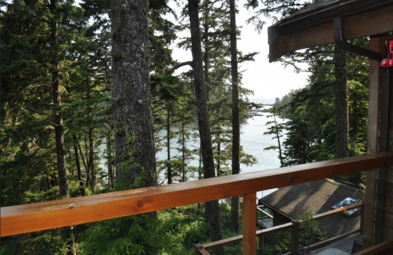 Deck view at The Cabins at Terrace Beach.