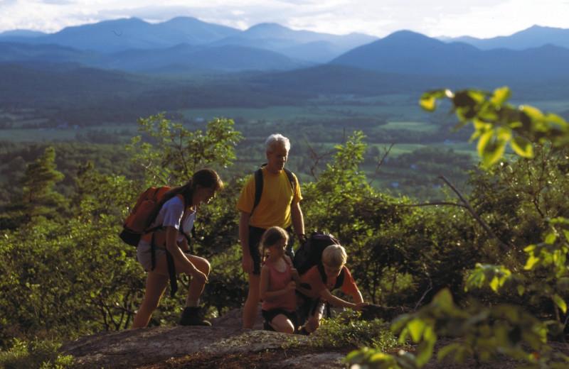 Family hiking at Owaissa Club Vacation Rentals.