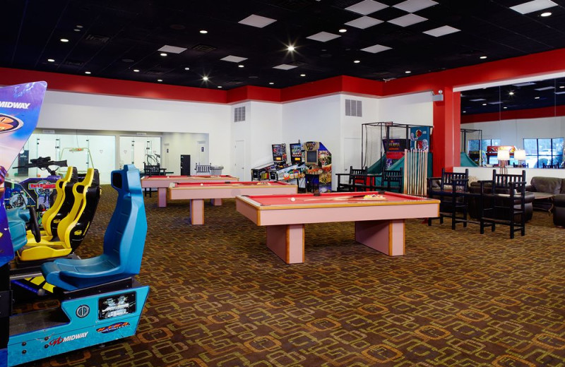 The Sports Palace at Cove Haven Resort where guests can enjoy billiards, video games, tennis courts and so much more.