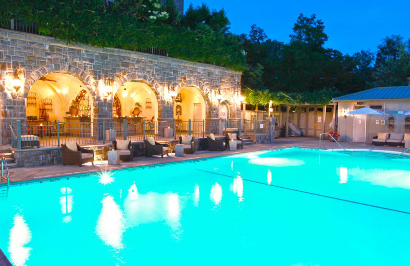 Outdoor pool at Castle Hotel & Spa.