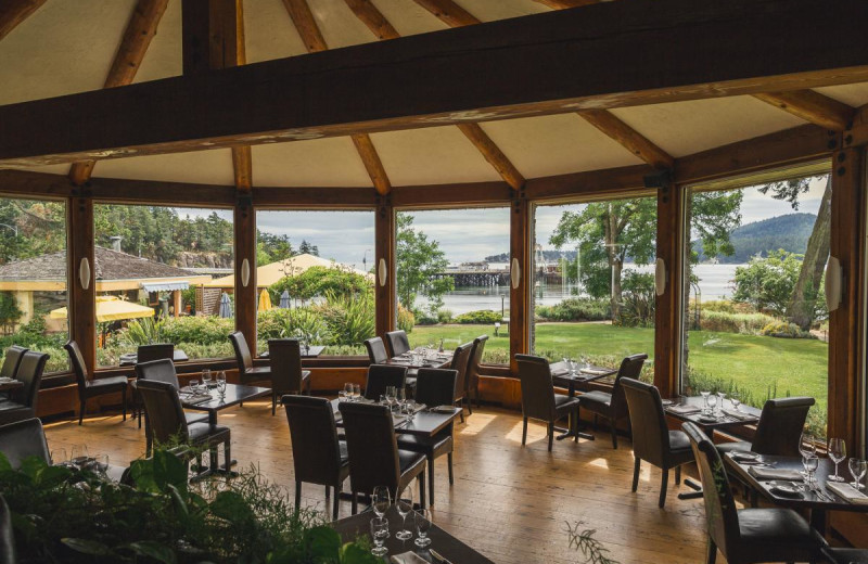 Dining at Galiano Oceanfront Inn and Spa.