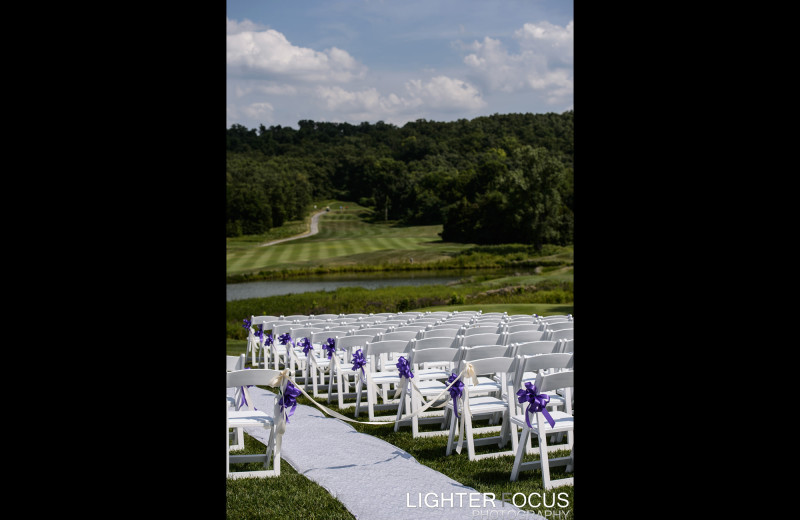 Wedding ceremony at Old Kinderhook Resort & Golf Club.
