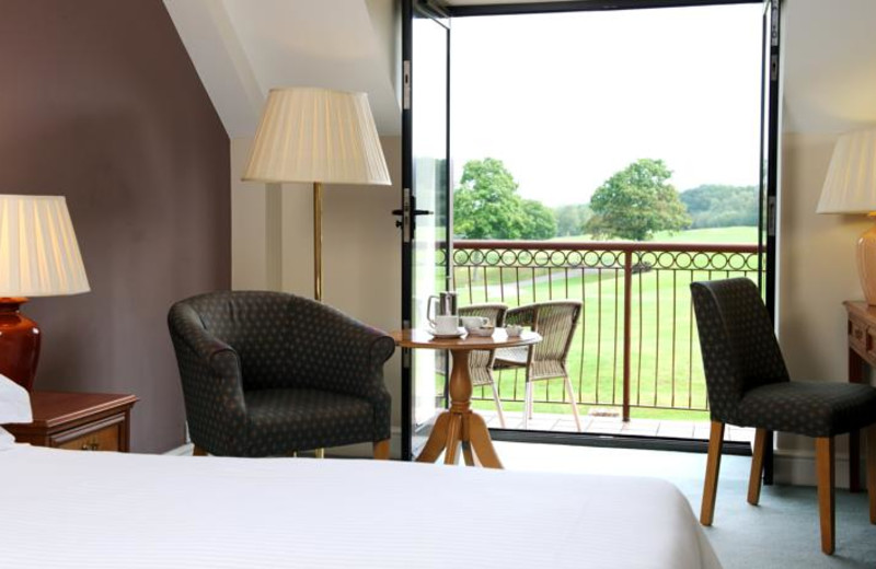 Guest room at Woodbury House Hotel.