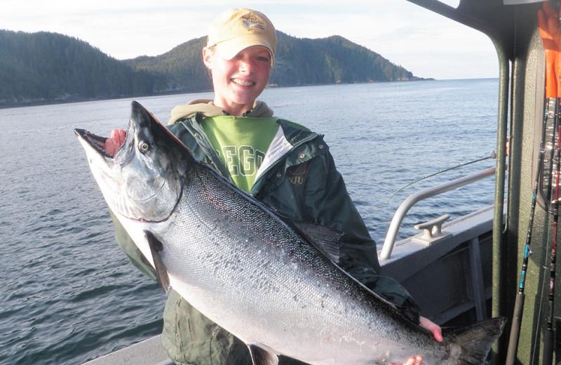 Fishing at Kingfisher Charters & Lodge.