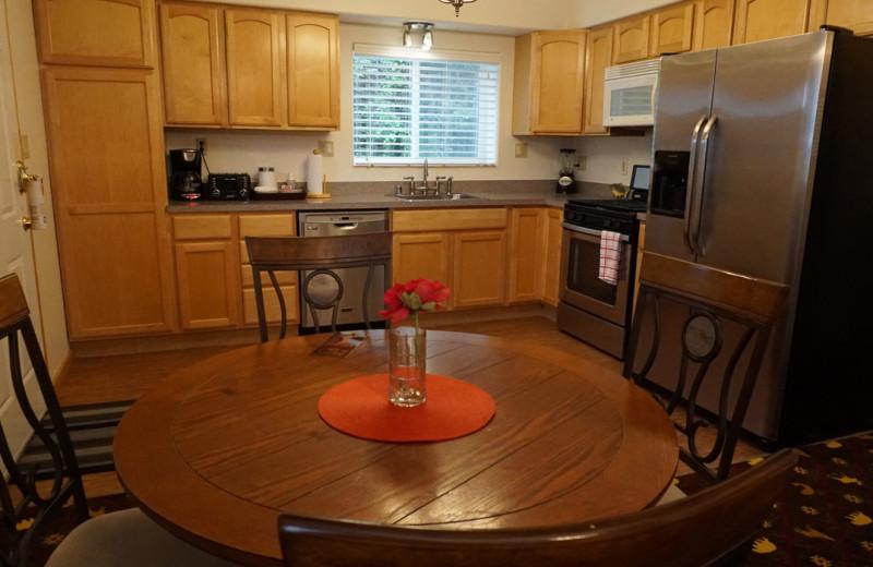 Guest kitchen at Salmon Catcher Lodge.