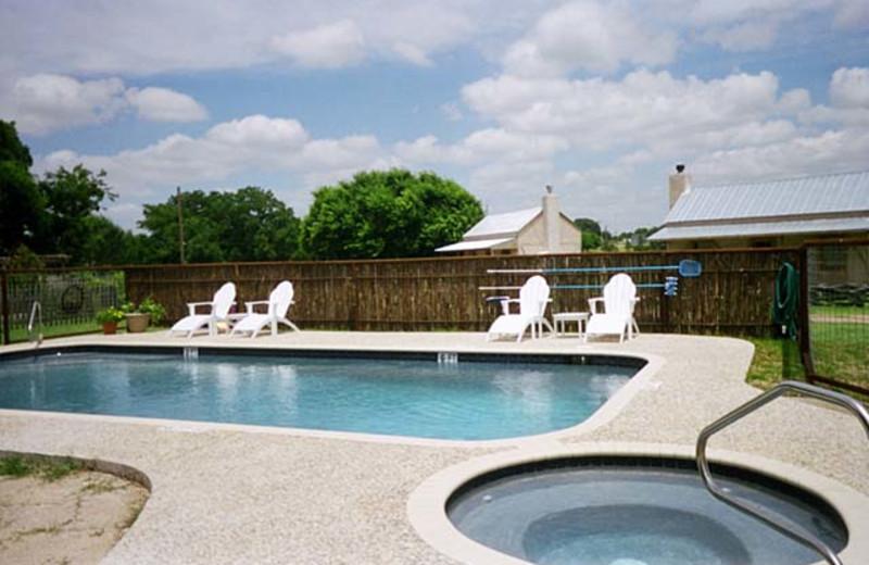 Outdoor swimming pool at Fredericksburg Ranch.