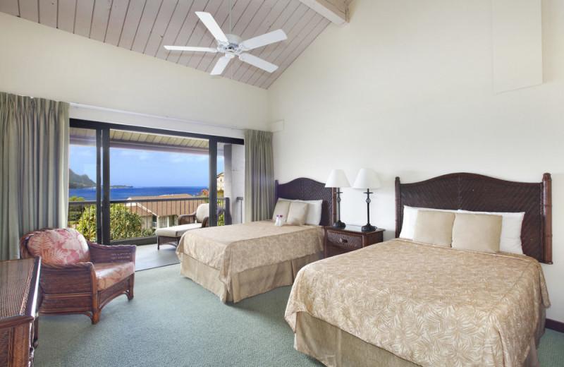 Guest room at Hanalei Bay Resort & Suites.