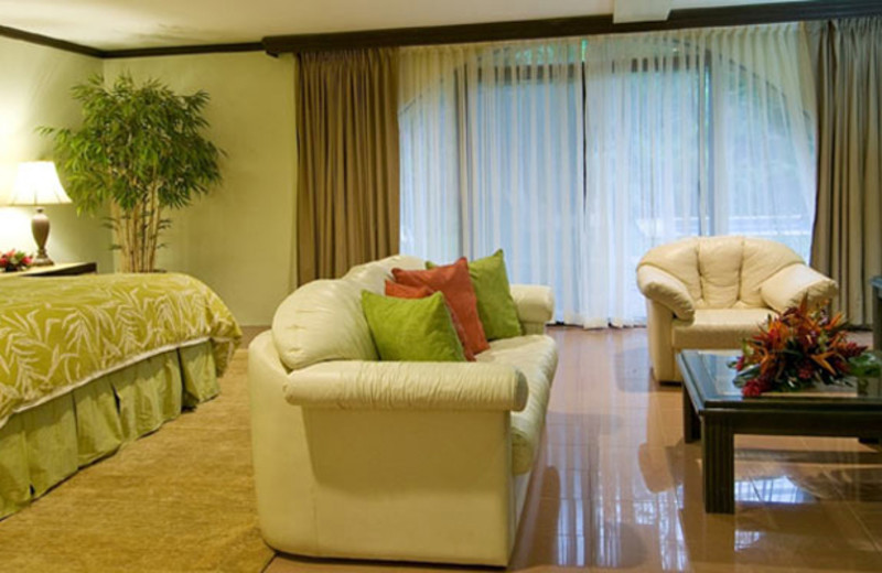 Guest room at Flamingo Beach Resort.