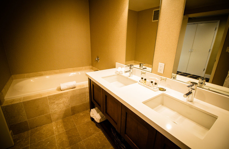 Guest bathroom at The Grand Hotel.