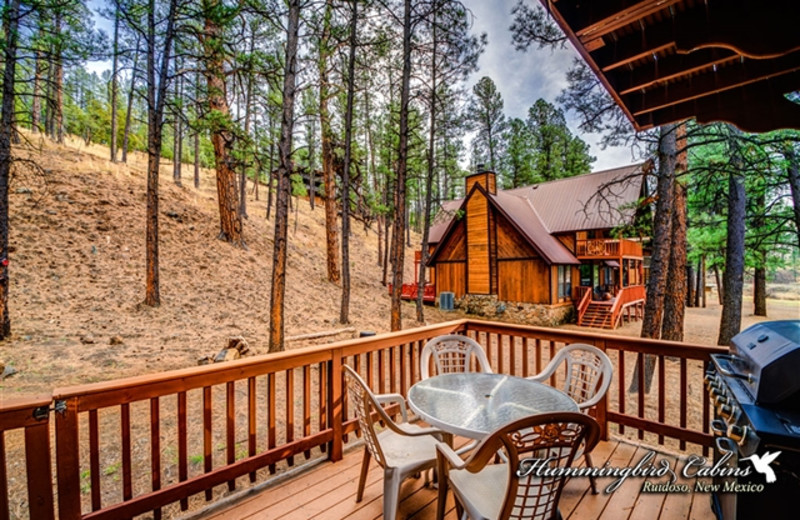 Deck at Hummingbird Cabins - Timberline Townhouse Vacation Rental