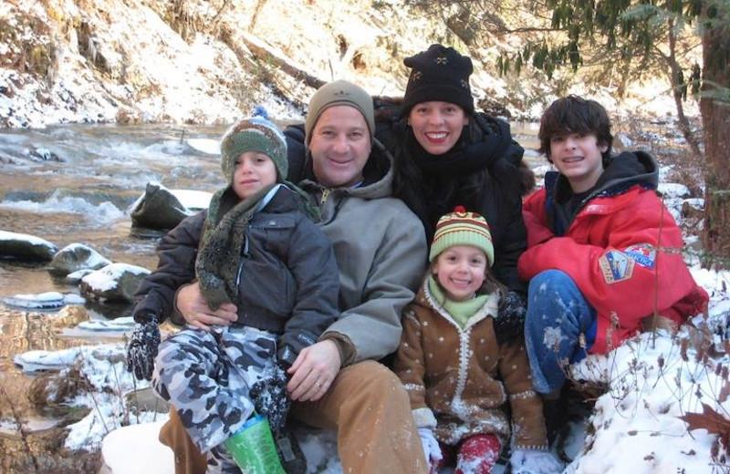 Family Fun in Winter at Nantahala River Lodge.