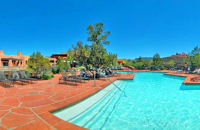 Outdoor pool at Hyatt-Pinion Point Resort.