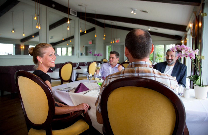 Eating in the Hearthside Dining Room at Elmhirst's Resort