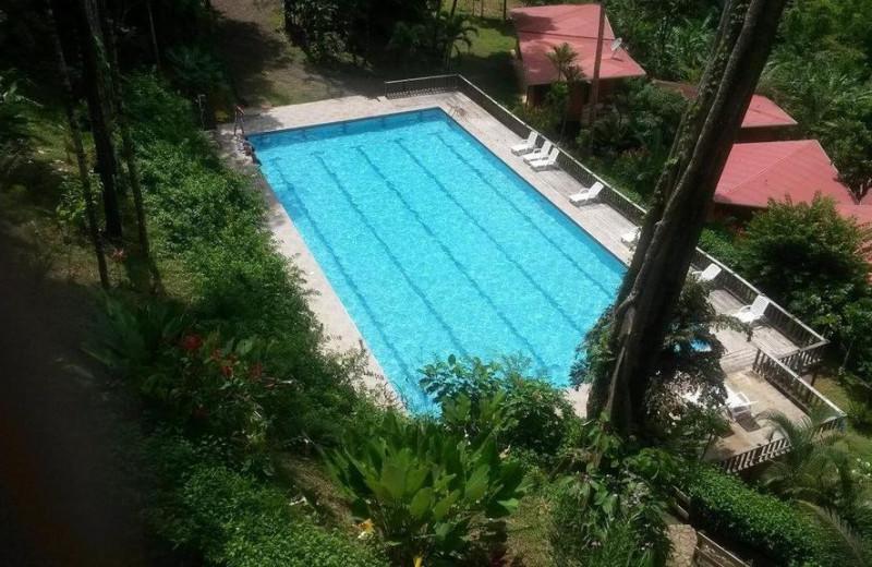 Outdoor pool at Mar y Selva Hotel.