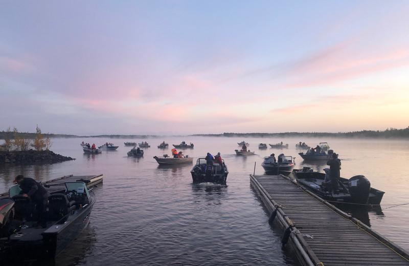 Fishing tournament at Pakwash Lake Camp.