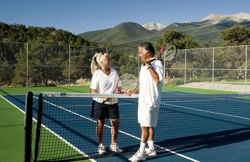 Tennis court at Mt. Princeton Hot Springs Resort.