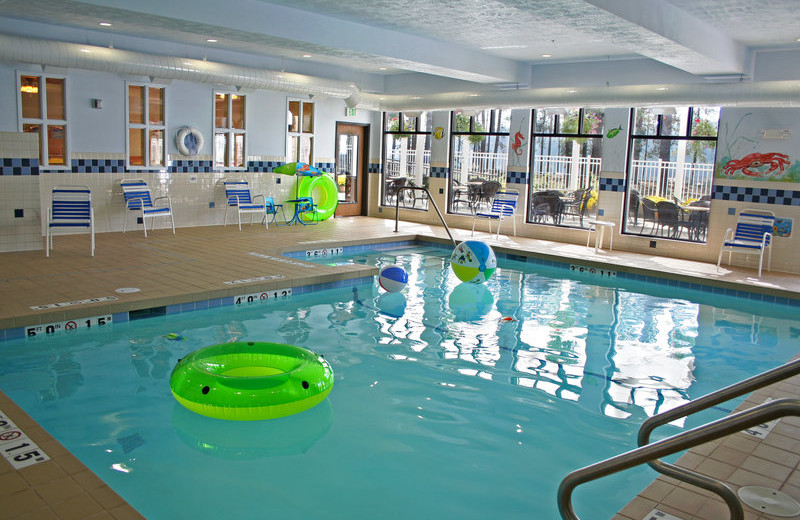 Indoor pool at Holiday Inn Express Hotel & Suites - Coeur D'Alene.