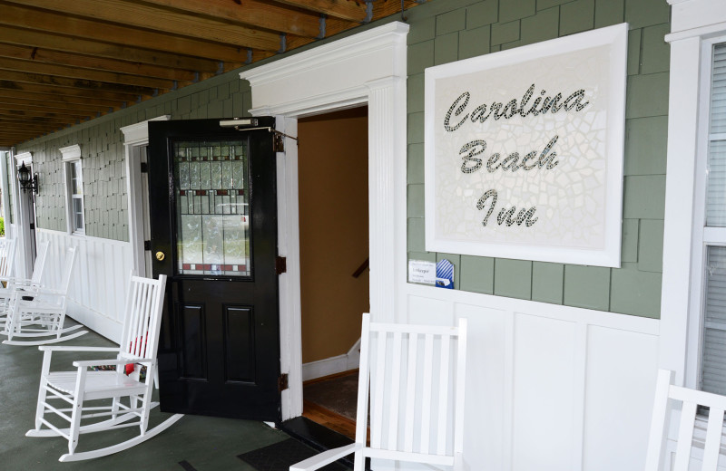 Porch at Carolina Beach Inn.