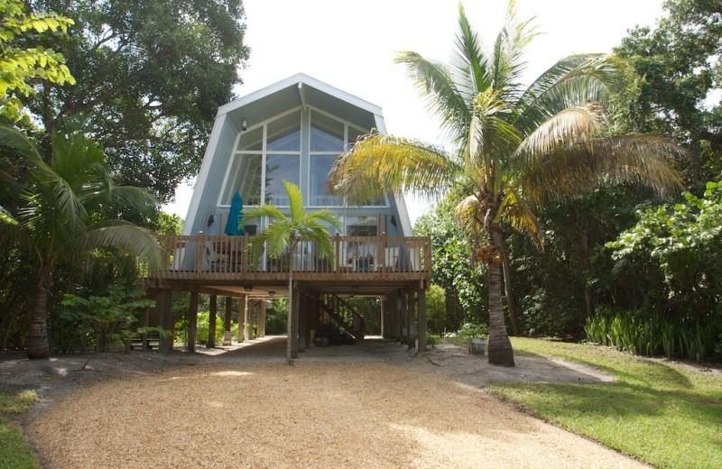 Rental exterior at Sanibel Vacations.