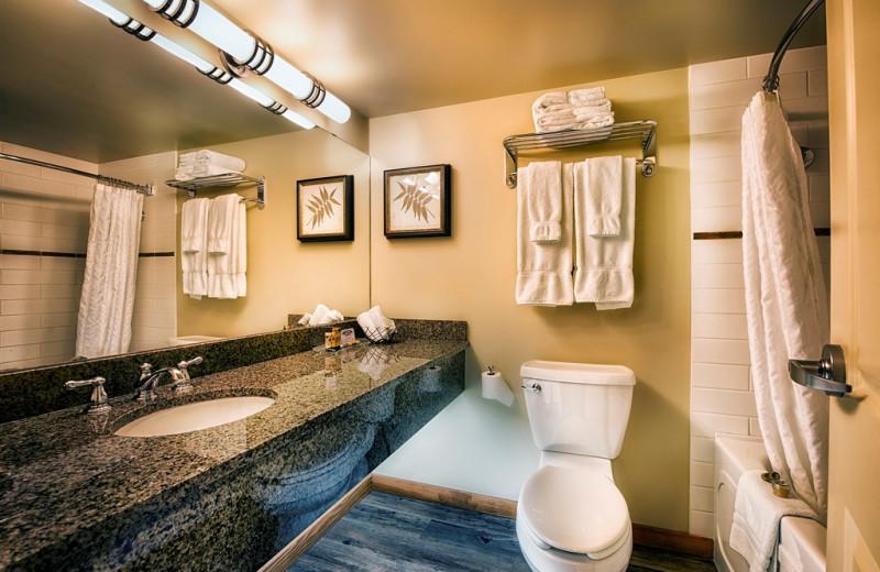 Guest bathroom at Elk Ridge Resort.