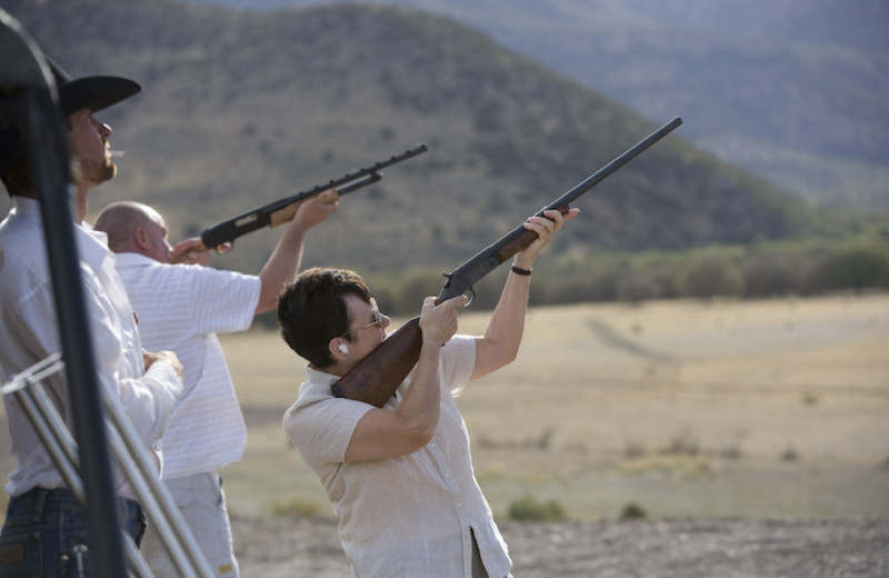 Shooting practice at Price Canyon Ranch.