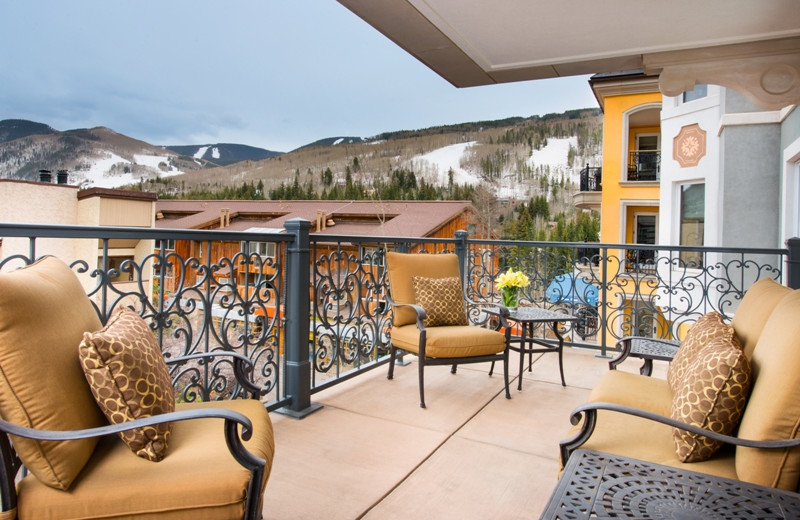 Guest balcony at Arrabelle at Vail Square.