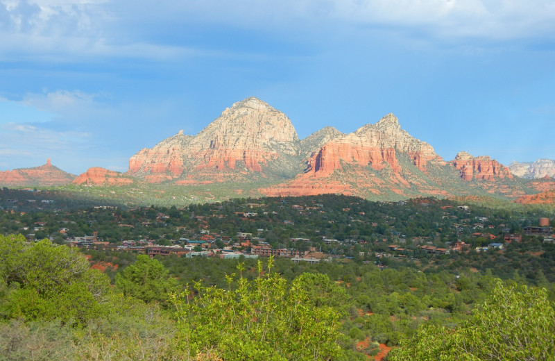 Beautiful mountain view at Sedona Rouge Hotel.