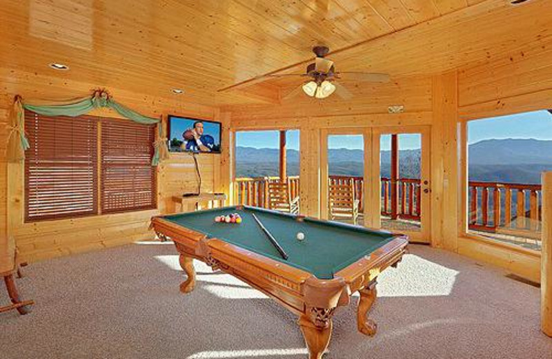Pool room at Nothin' But Views.