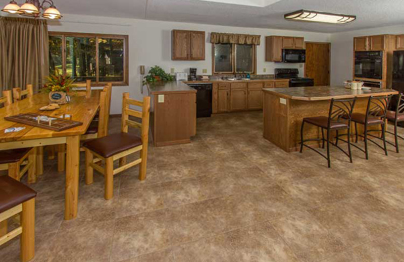 Guest kitchen at Cragun's Resort and Hotel on Gull Lake.