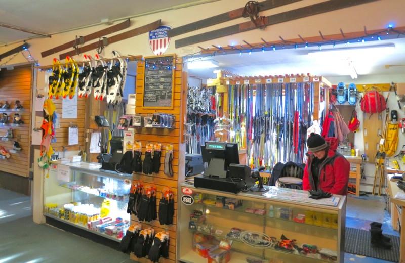 Ski shop at Garnet Hill Lodge.