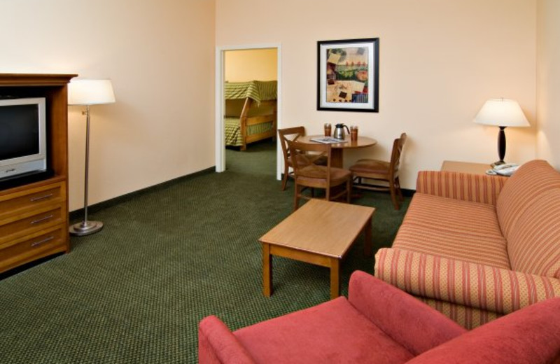 Family suite at Holiday Inn Minneapolis.