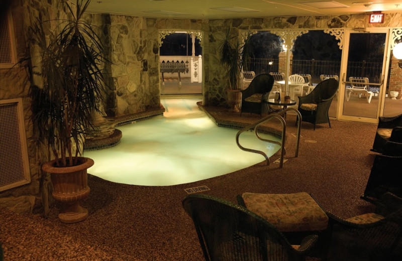 Indoor pool at Boardwalk Plaza Hotel.