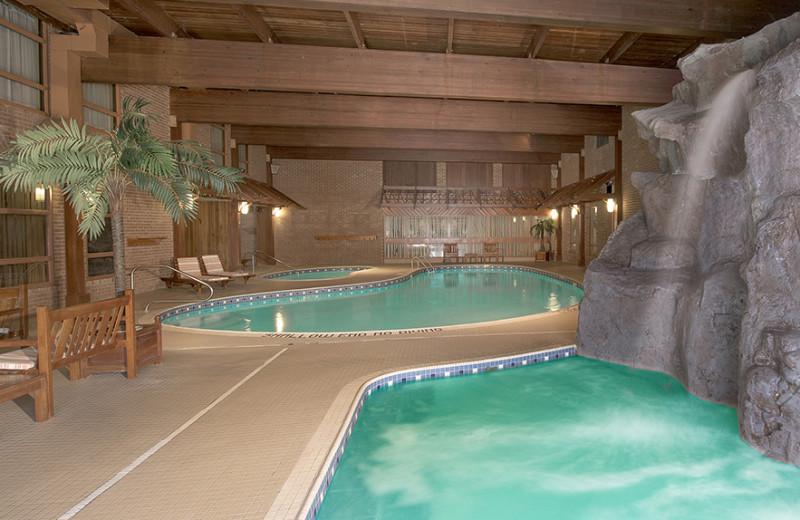 Indoor pool at Algomas Water Tower Inn.