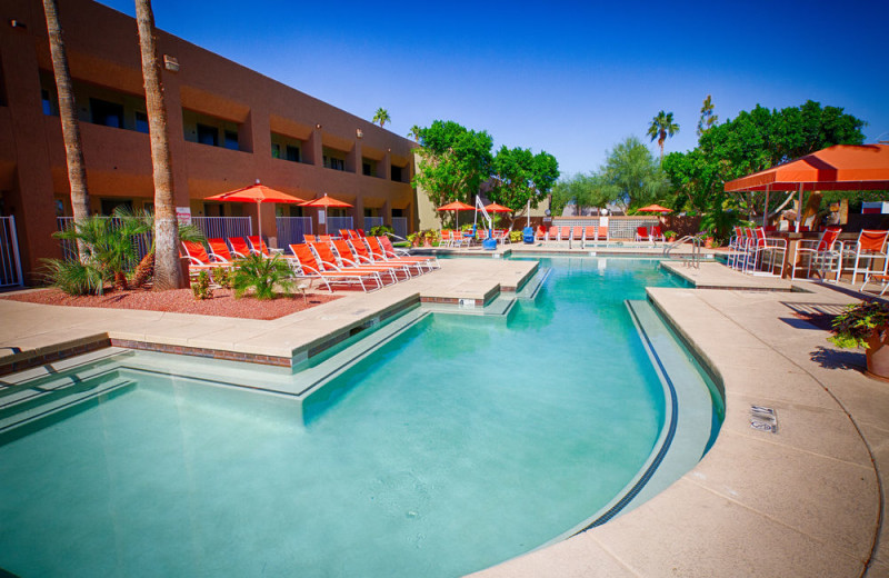 Outdoor pool at 3 Palms.