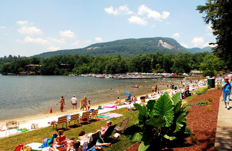 Beach at Rumbling Bald Resort.