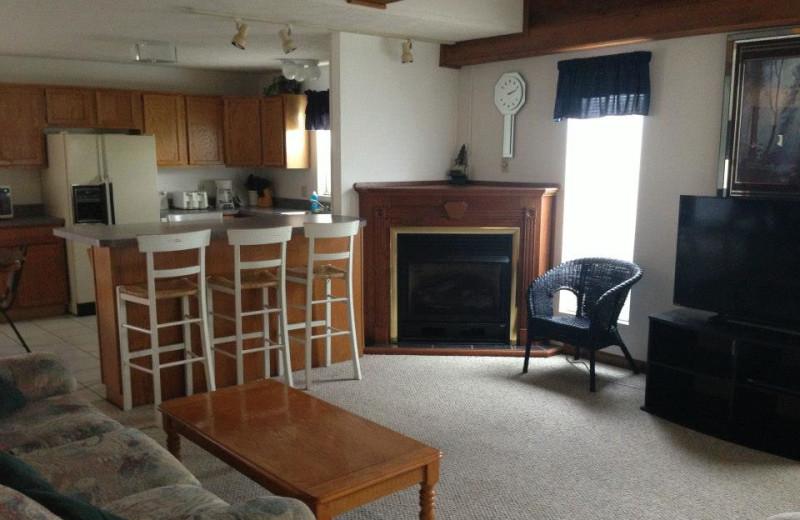 Kitchen living room at Palisades Resort.