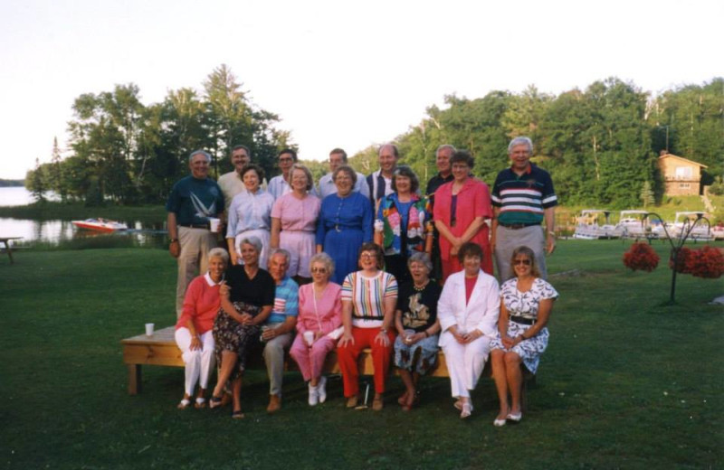 Family reunions at Lakewoods Resort.
